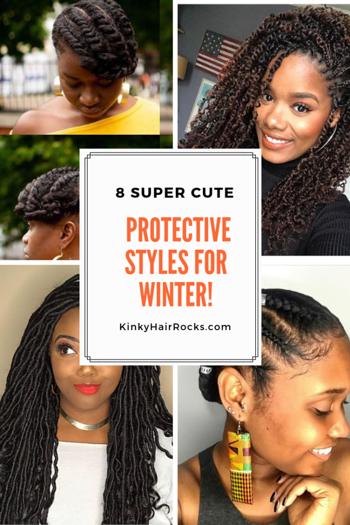 8 Super Cute Protective Styles For Winter Kinky Hair Rocks